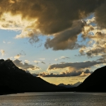 Sonnenuntergang am Spray Lake