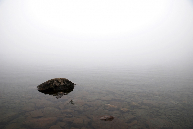 dichter Nebel am Callaghan Lake